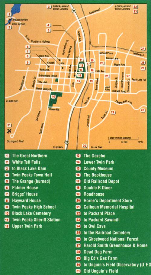 Twin Peaks Maps