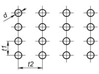 b1 - Круглое отверстие по прямоугольнику