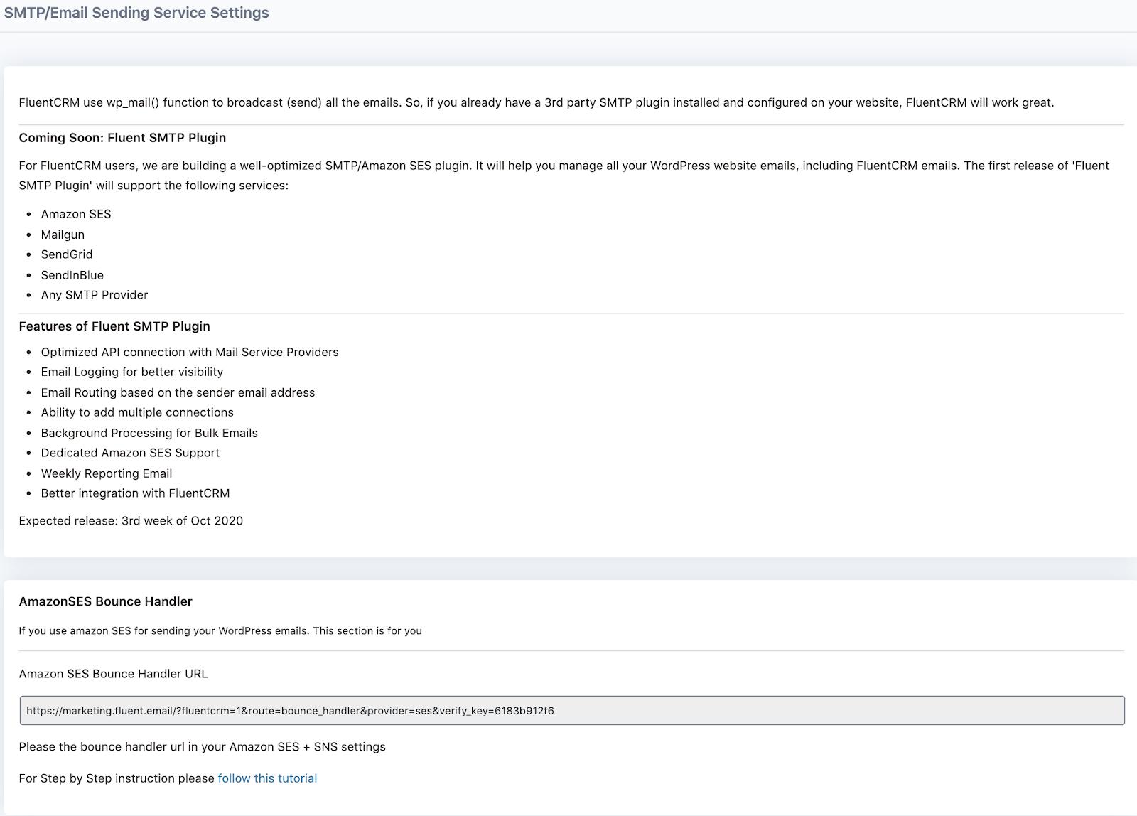 fluentcrm email settings
