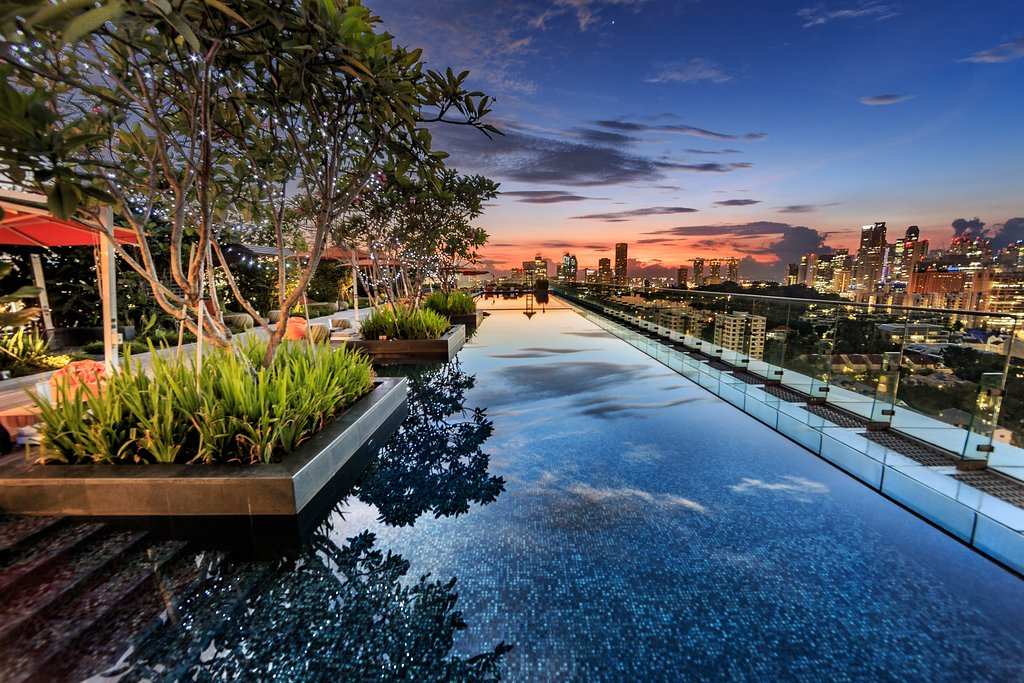 The view from Orchardgateway's amazing rooftop pool.