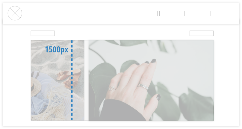 Website gallery images should all be the same height
