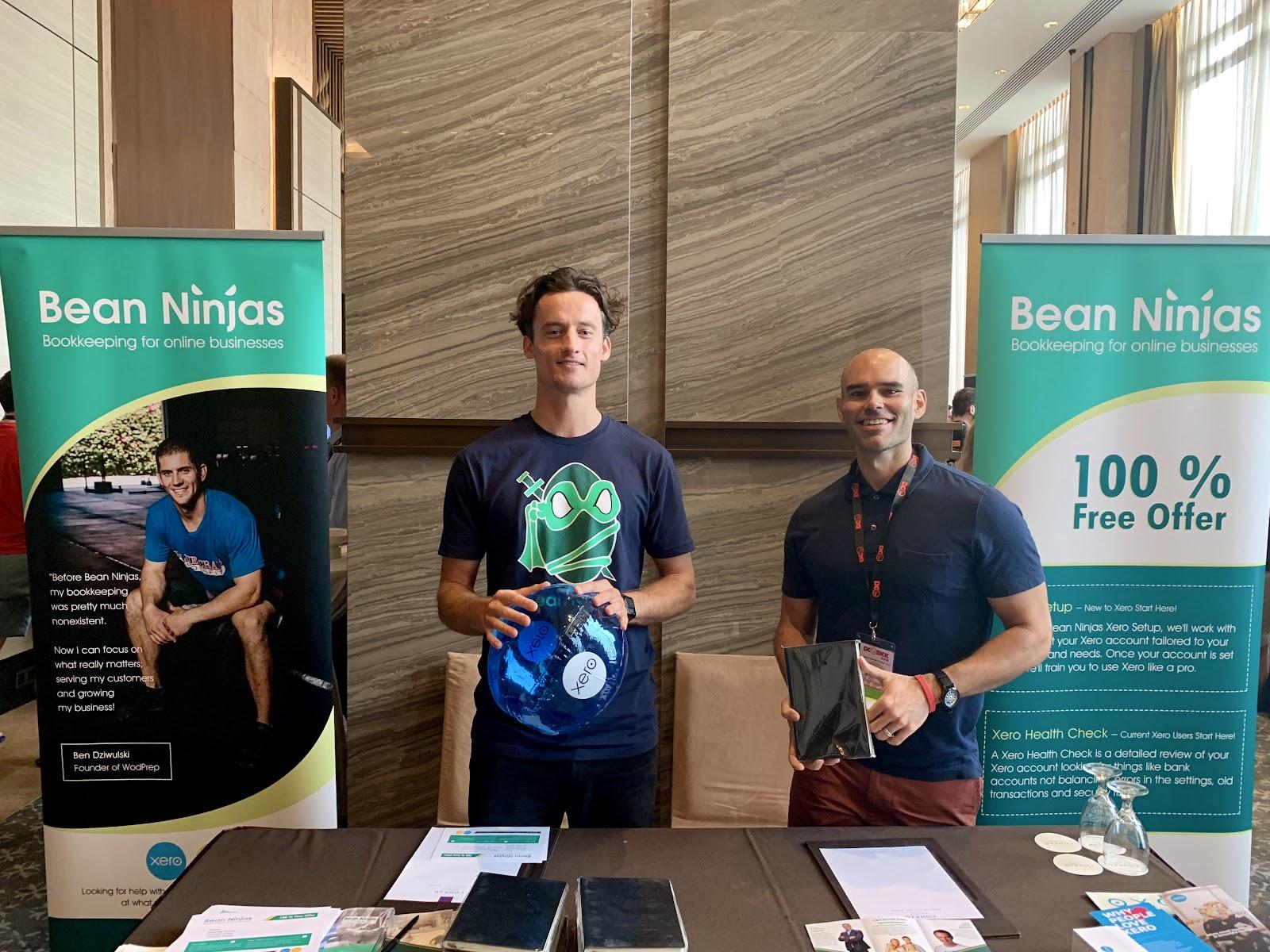 Wayne and Michael at DCBKK 2018 in Bangkok, Thailand.