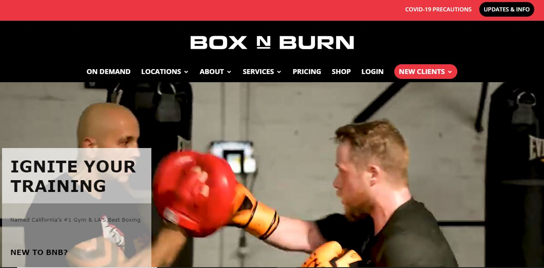 Box n Burn training website.