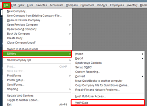 Verify data utility - Screenshot Image