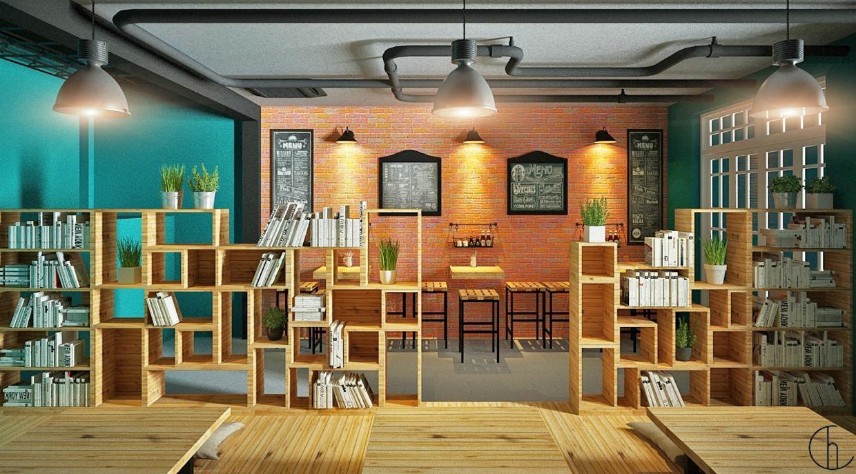 Không gian quán cà phê sách như thế nào?