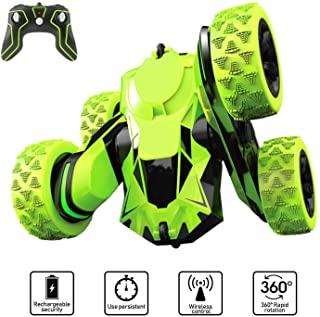 Toys for 6-12 Year Old Boys JoyJam RC Stunt Car for Kids and Adults 4WD Off Road Truck 2.4Ghz Remote Control Vehicle Double Sided 360 Degree Rotating Christmas Birthday Gifts CA-NBC-Green