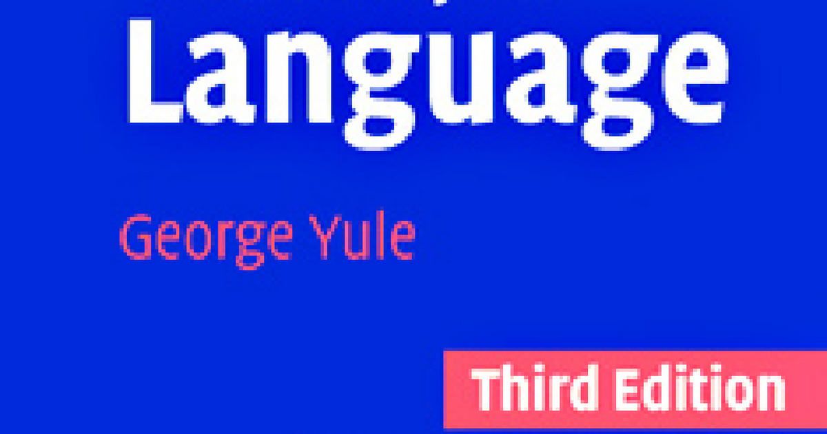 george yule the study of language 6th edition pdf download