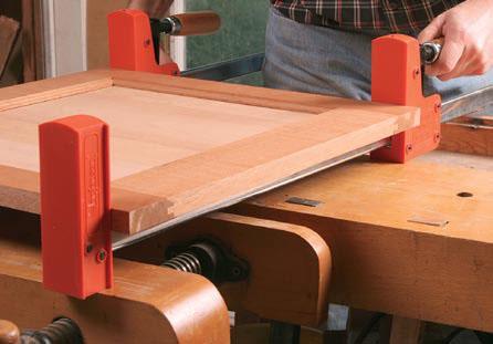 Flat panel glue ups