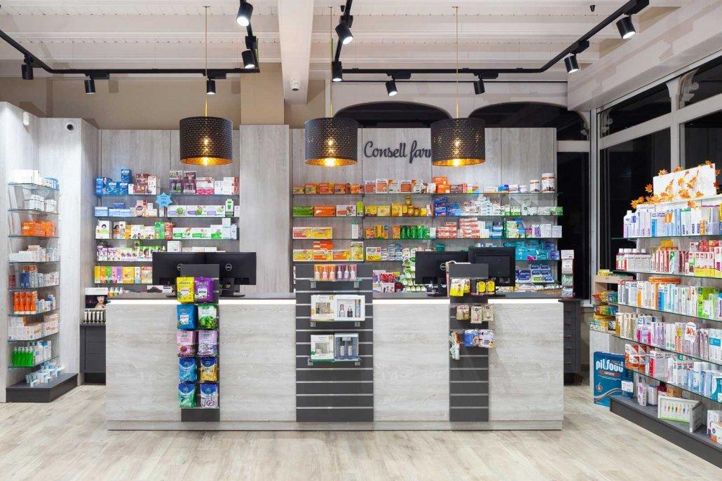 Ideas para un Mostrador de farmacia diferente