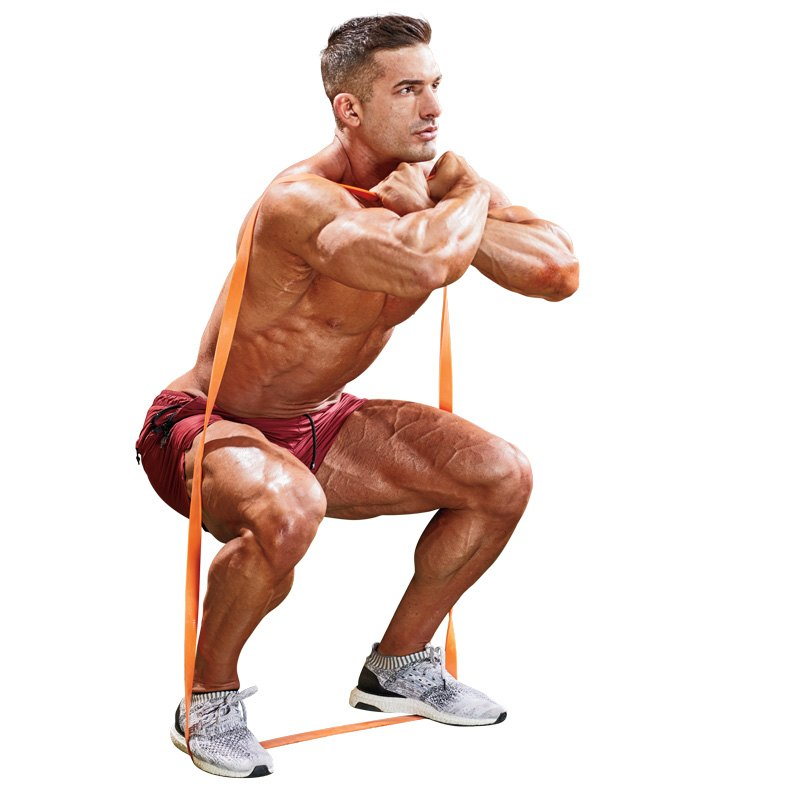 Resistance-Band Front Squat Exercise Video Guide | Muscle & Fitness