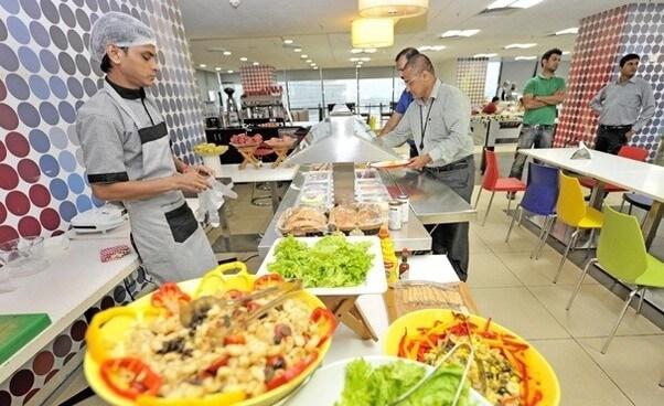 Manfaat makanan gratis di kantor pusat Google