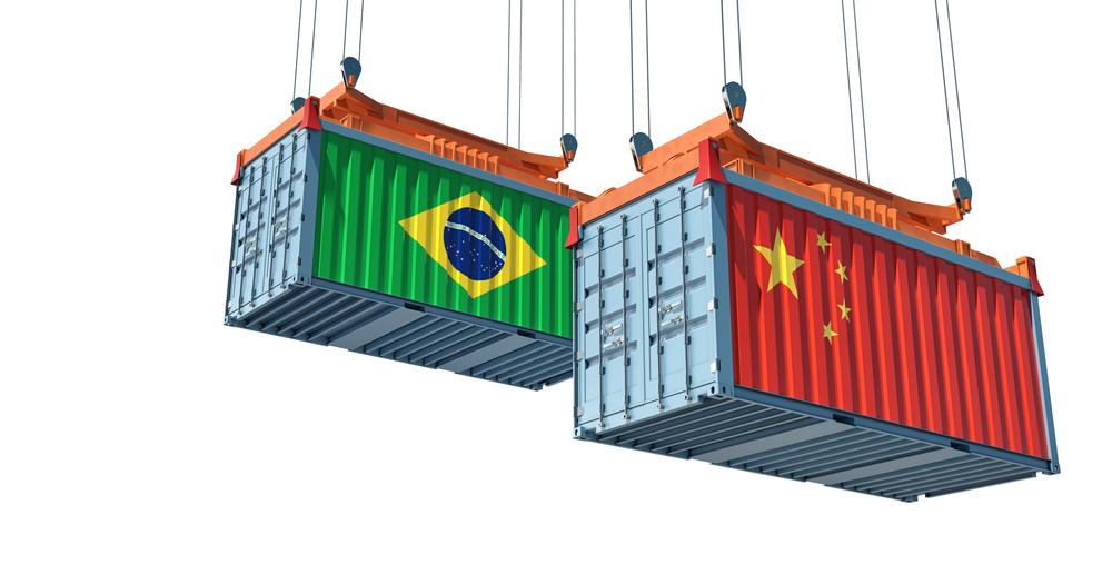 Exportações do agronegócio brasileiro para o mercado chinês deram salto por conta do conflito comercial sino-americano. (Fonte: Shutterstock)