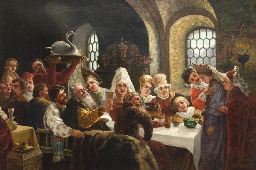 """""""Боярське весілля у XVII ст."""" (картина В. Маковського)"""
