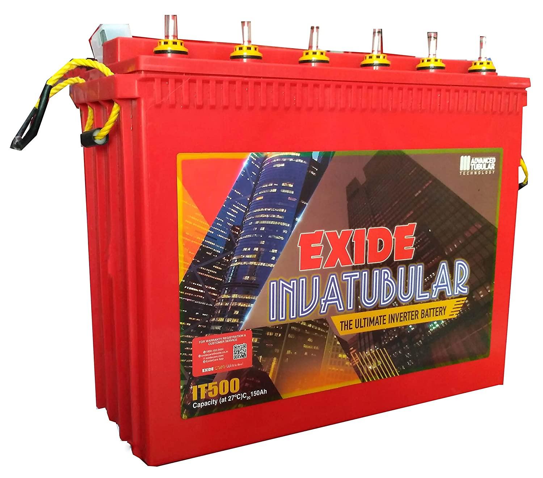 Exide 500 150 Ah Tall Tubular Battery