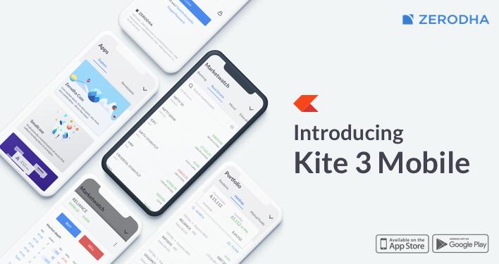 Kite 3 Mobie app | Zerodha Kite Review
