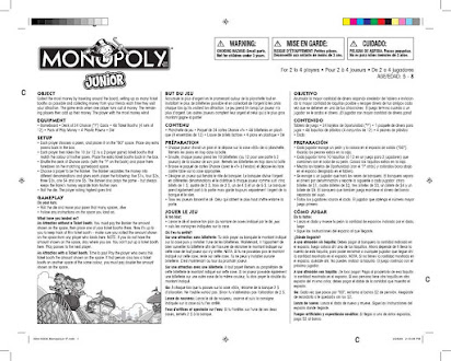 Manual De Instrucciones Monopoly Junior Espanol