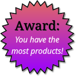 Award for having the most products
