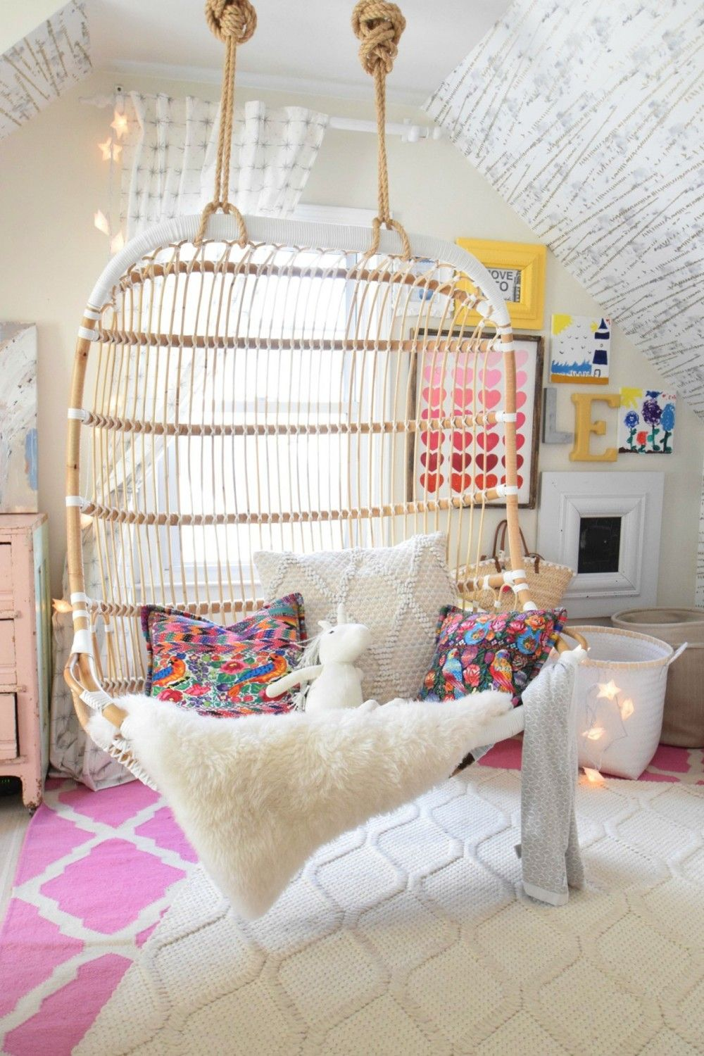 Cute Lighting Fixtures and A Swinging Chair