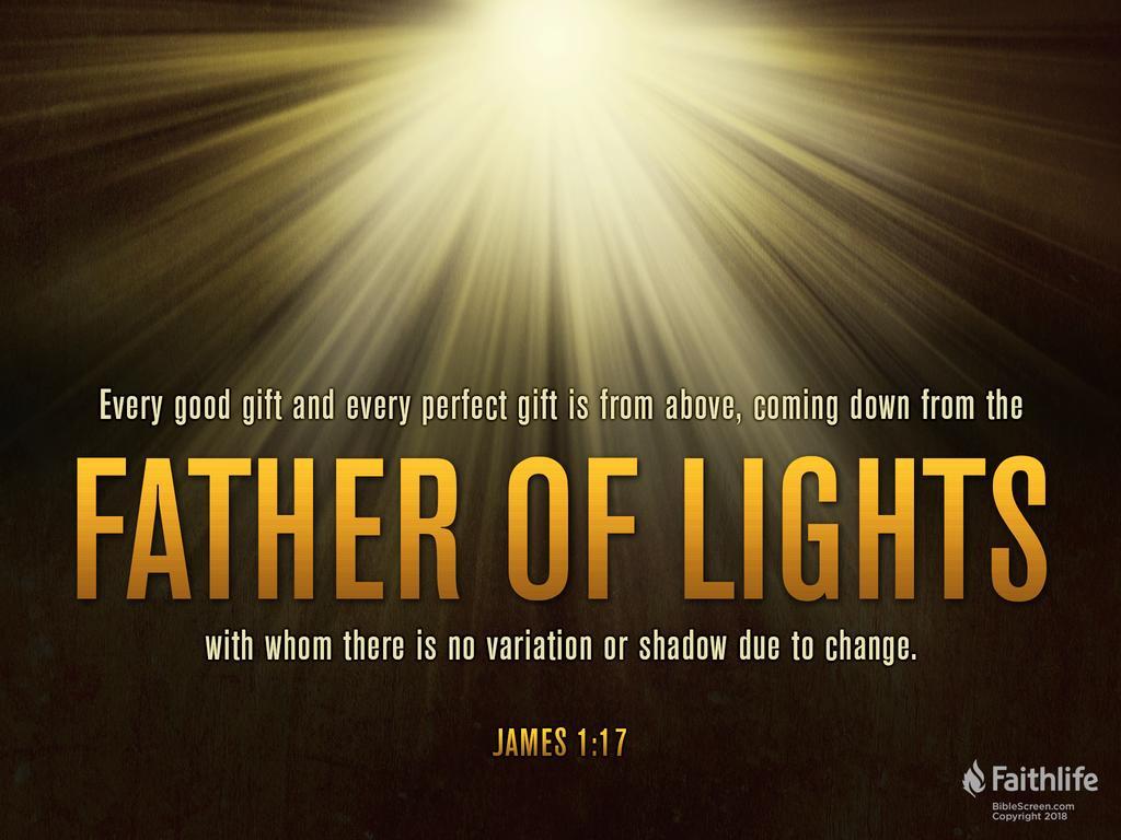 designed James 1:17 offering verse