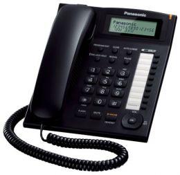 Panasonic - jednolinkový telefon, displej, CLIP, barva černá