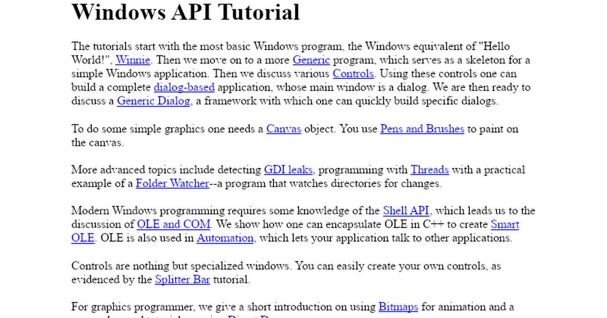 Dan appleman's win32 api puzzle book and tutorial for visual basic.