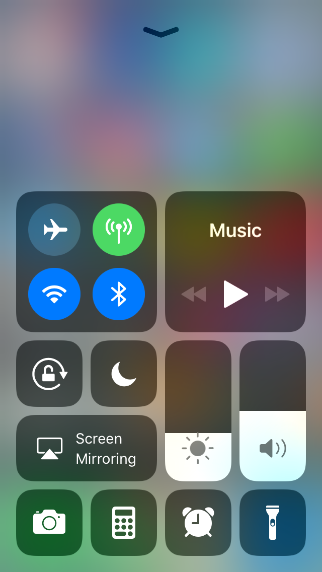New iOS Control Center