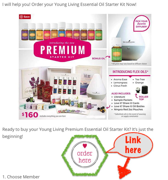 How To Make Money With Young Living How To Order A Premium Starter Kit with Your Referral Link