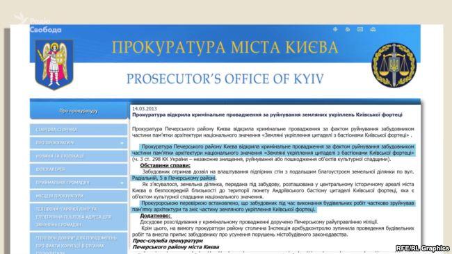 У 2013 році прокуратура відкрила кримінальне провадження щодо руйнування люнету будівельною технікою
