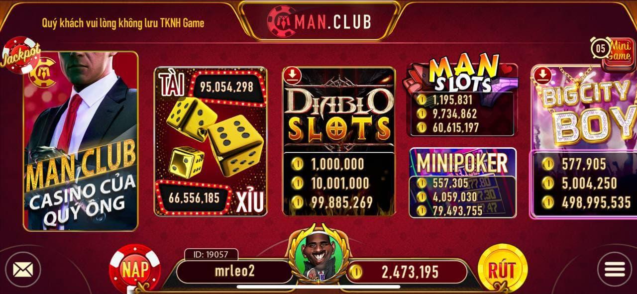 Man club/Man vip - cổng game chơi bài hay nhất hiện nay