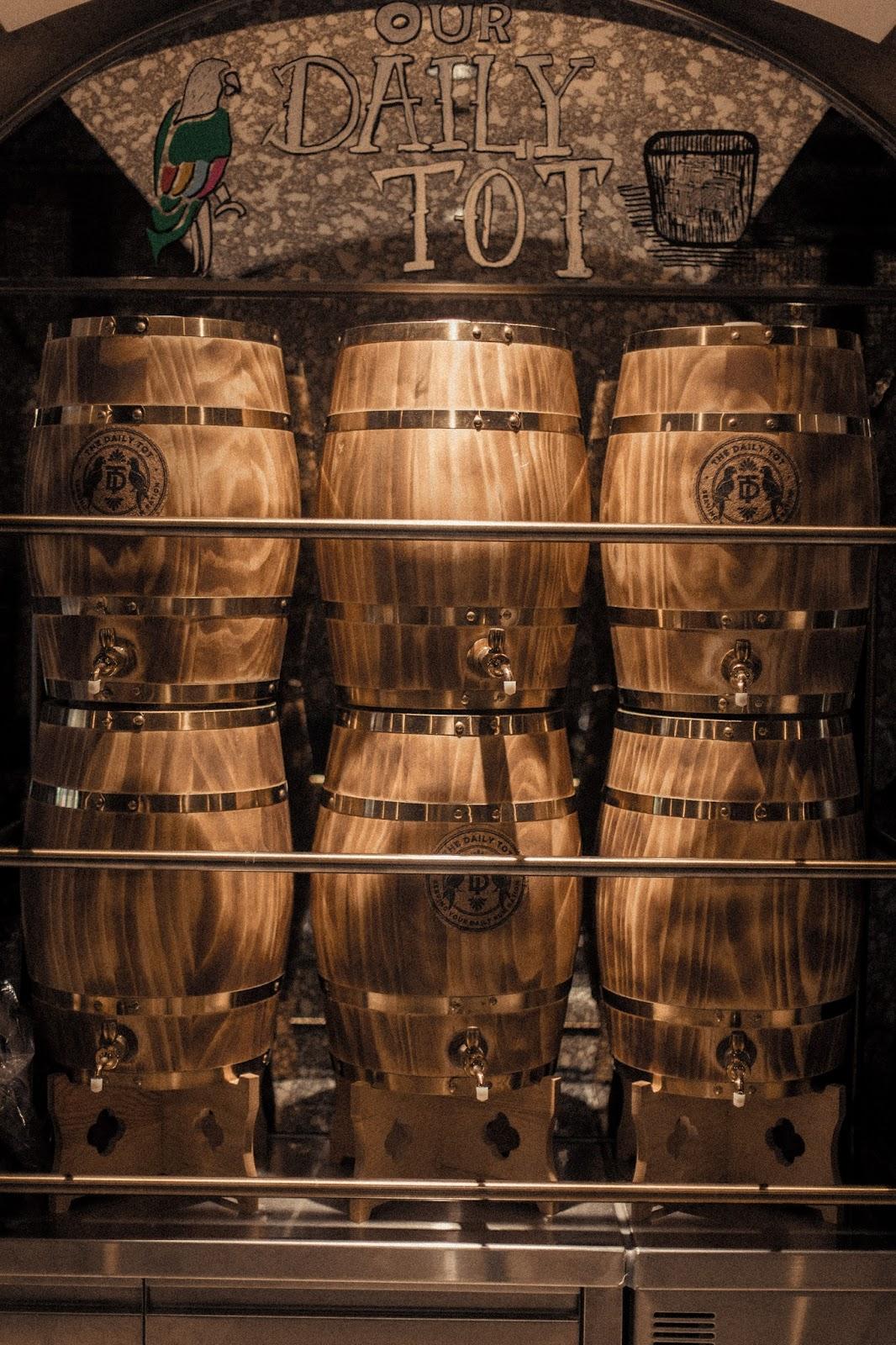 rum casks in Hong Kong's The Daily Tot