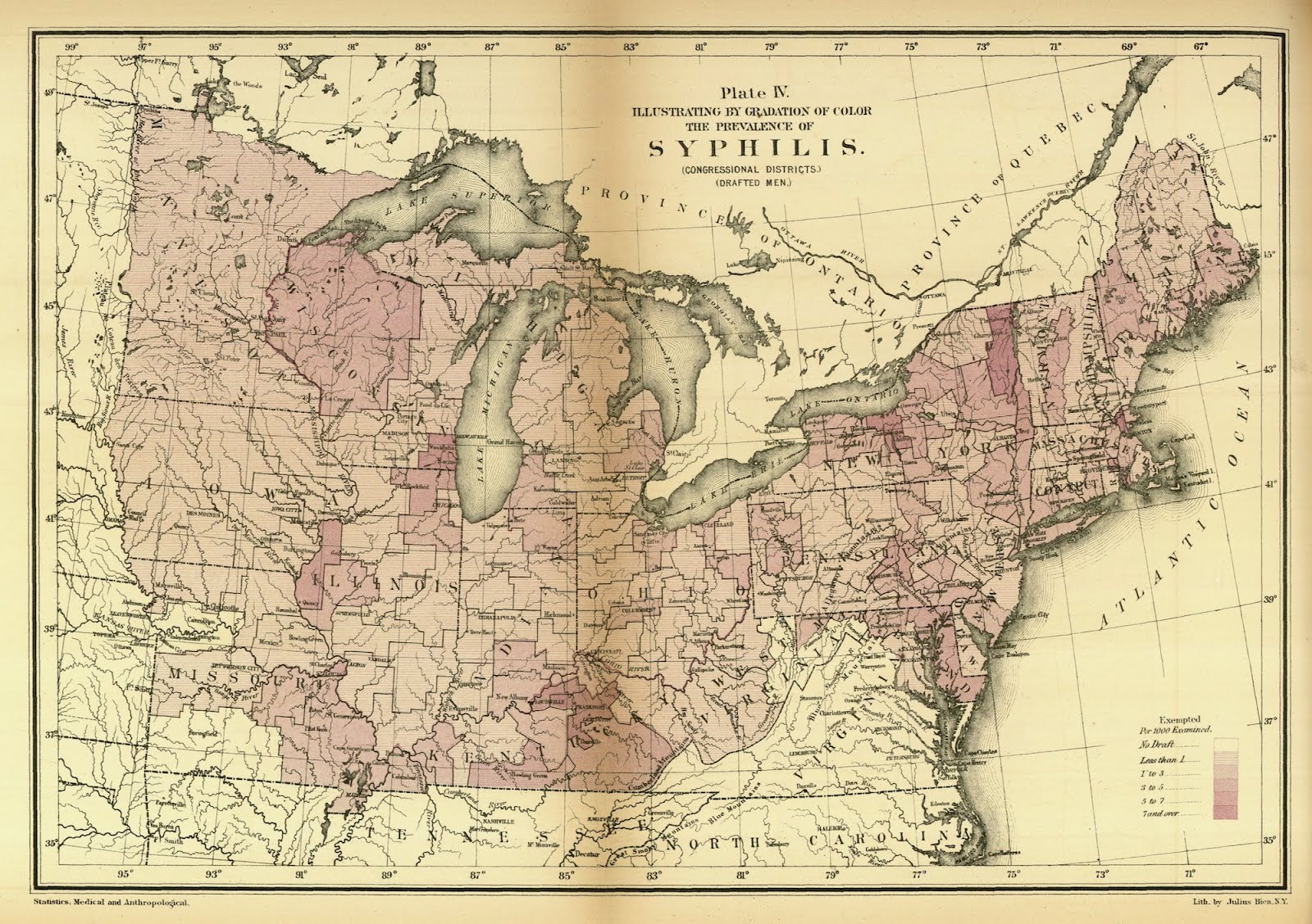 For Philandering Time Travelers, A Map Of Syphilis During ...