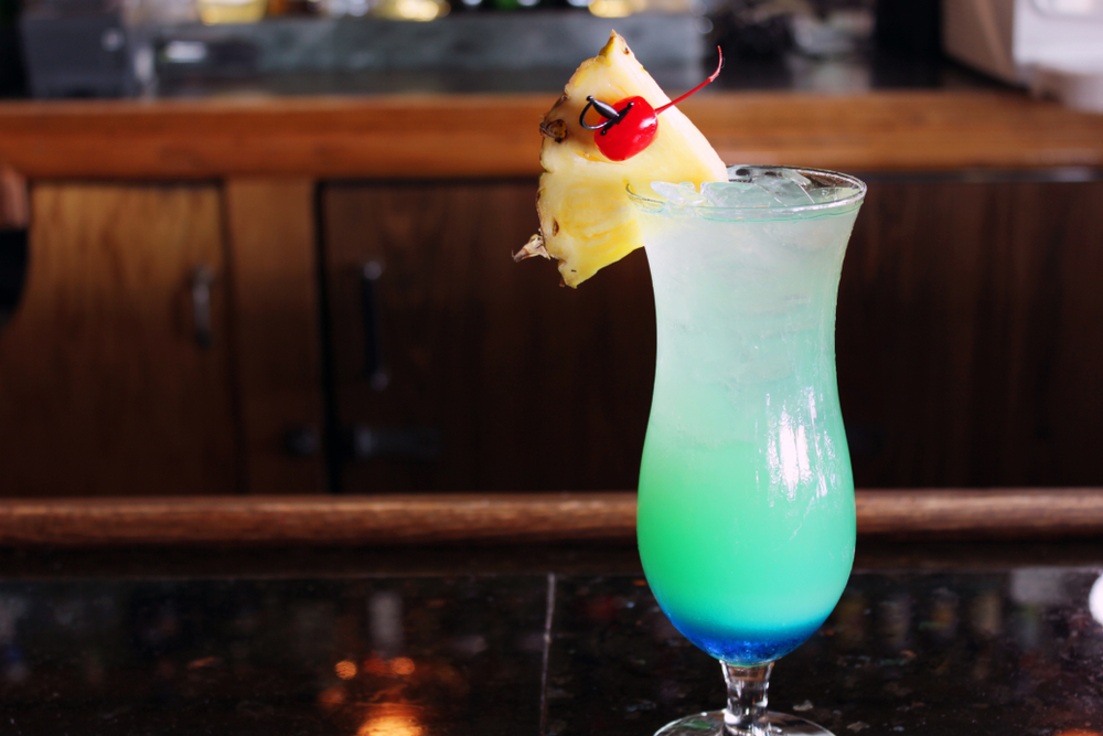 Tropical Cocktails for Summer - Blue Hawaii