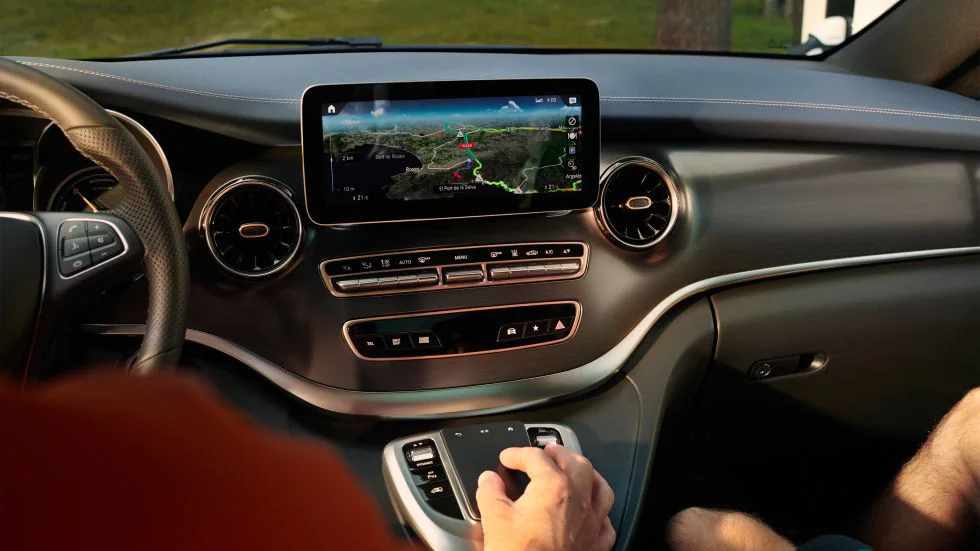 Ecran de bord et système MBUX de la Mercedes EQV