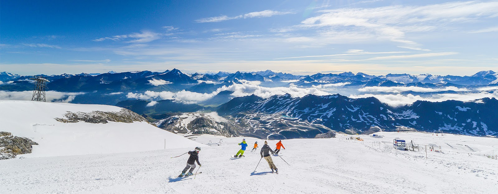 Esquiando en Tignes en verano.
