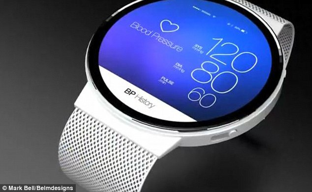 Reports have previously claimed Apple's iWatch could double up as an activity tracker. This concept image reveals how the rumoured device and health tool might look. Dubbed the Diet Watch, it could track calories and steps as well as heart rate. It could launch at an event in October, alongside Apple's next iPad range