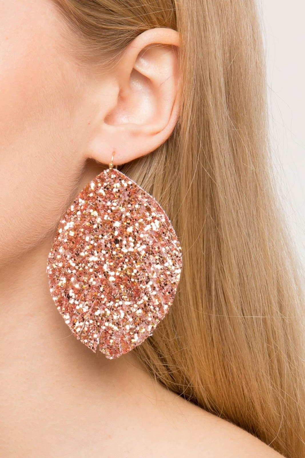 DIY Glitter Drop Earring