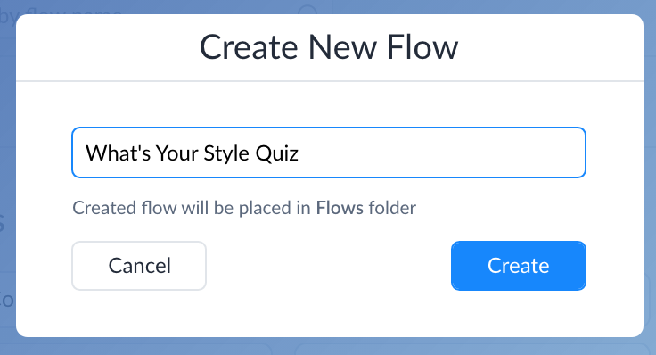 Creating a flow