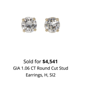 how much can sell diamond earrings for