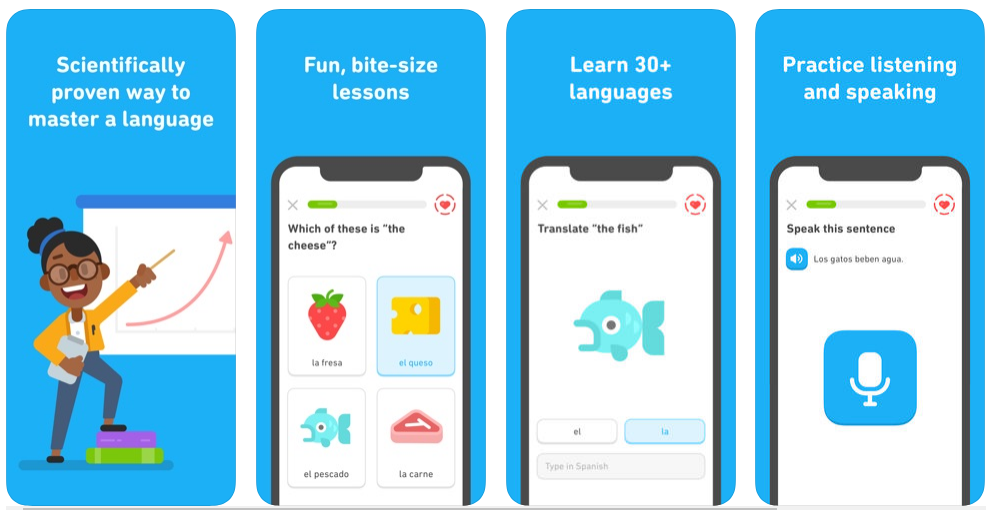 how to create a language learning app like duolingo
