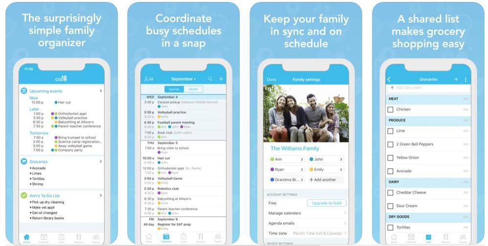 organizer app, cozi