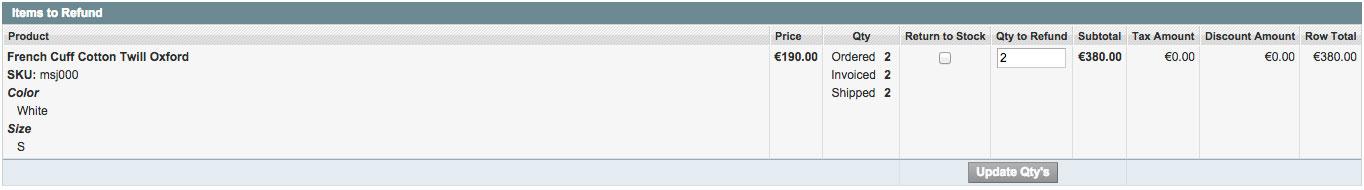 RMA crediteren in Magento Enterprise
