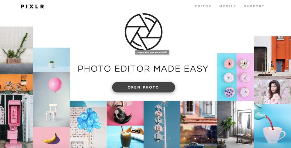 Design tools - Pixlr