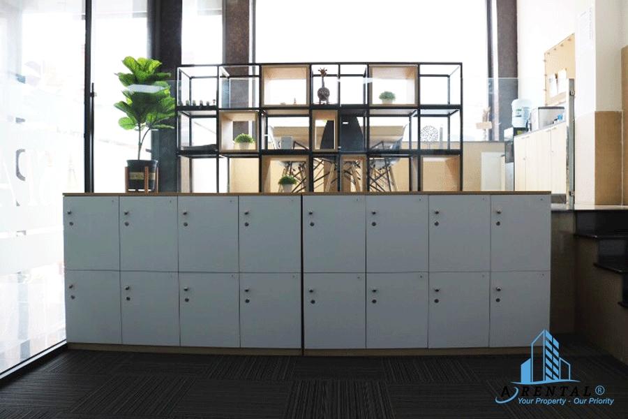 Nhiều vật dụng tiện ích trong văn phòng cho thuê