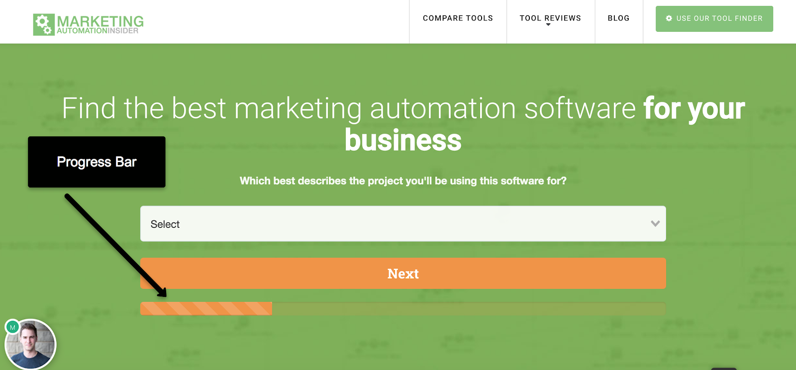 marketing automation insider progress bar
