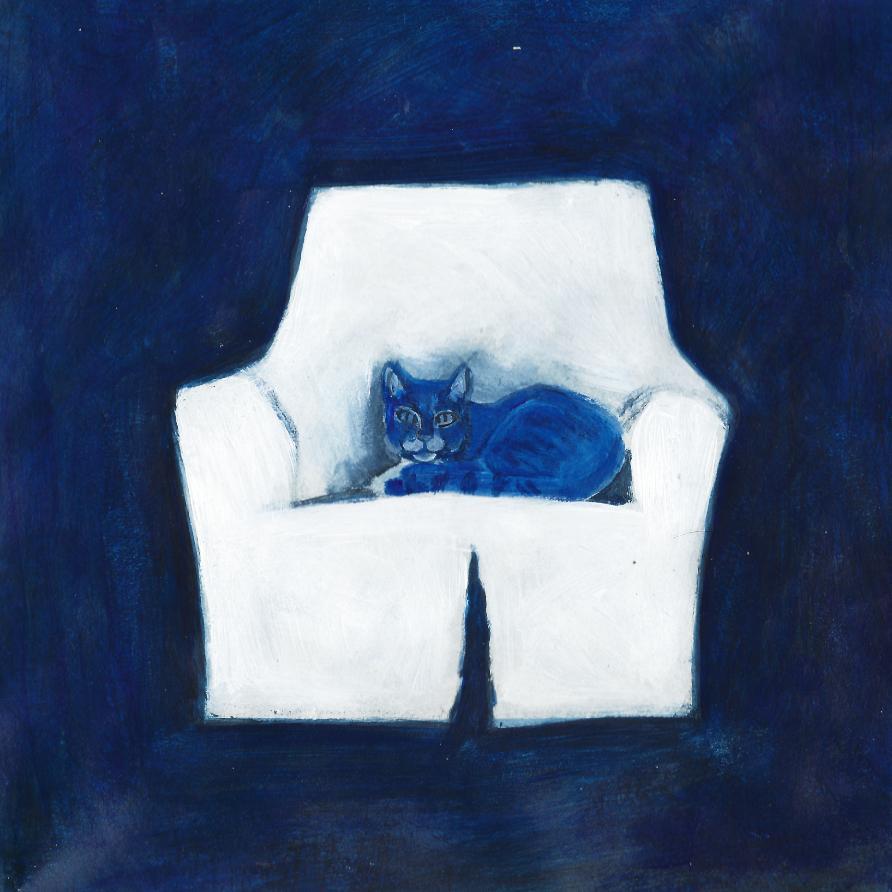 Immagine che contiene interni, elefante, dipingendo, blu  Descrizione generata automaticamente