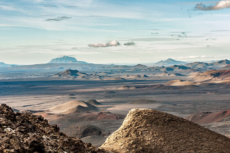A view of a mountain range