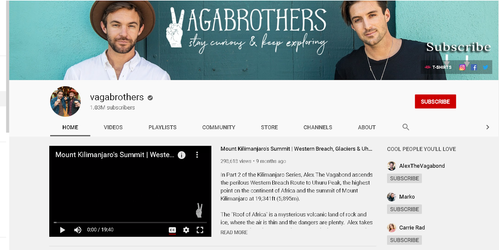 Vaga Brothers YouTube channels