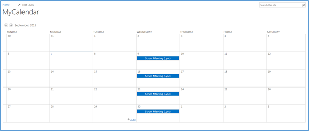 Calendar View - Recurrence Event