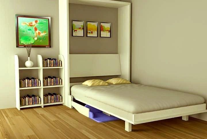 Chiếc giường gấp tiện ích thông minh tạo nên không gian gọn gàng