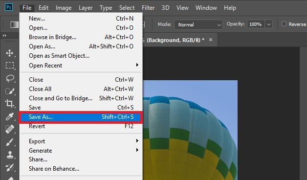 Changer Photo Background in Photoshop - Save Image
